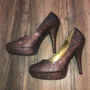Madden Girl Multicolor Glitter Heels Size 8